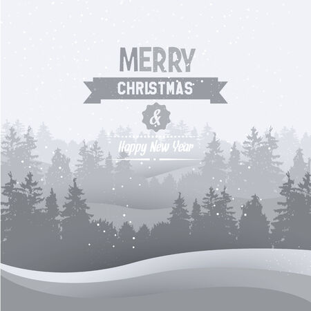 Vintage Christmas greeting card - vector background Illustration
