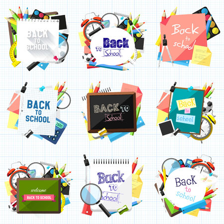 Vector set of Back to school backgrounds