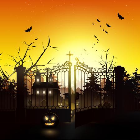 Scary nacht in het bos - Halloween achtergrond