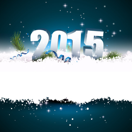 New Year greeting card with place for your text