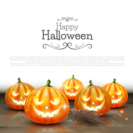 jackolantern: Halloween background with place for text