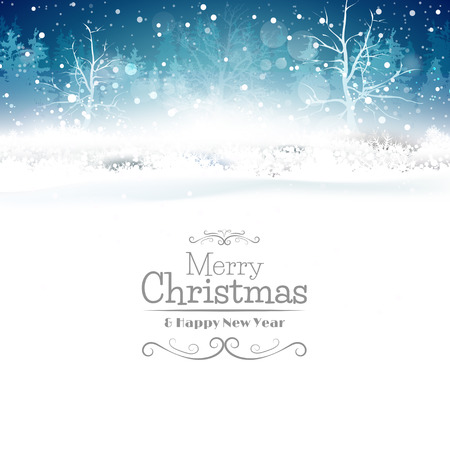 snow: Christmas greeting card with place for your text