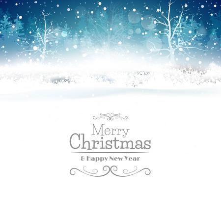 adornos navidad: Tarjeta de felicitaci�n de la Navidad con el lugar para su texto