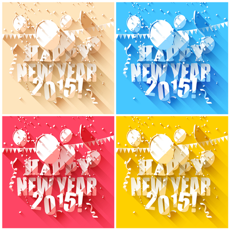 Happy new year 2015 greeting cards in flat design style royalty happy new year 2015 greeting cards in flat design style stock vector 33855930 m4hsunfo
