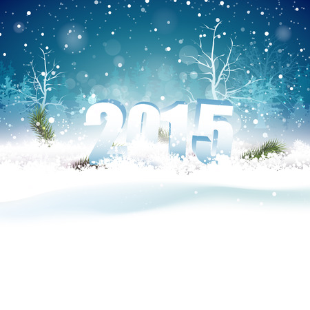 new year greeting: New Year greeting card with place for your text