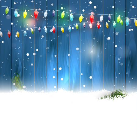 light reflex: Christmas background with place for your text