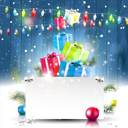 Kerst achtergrond met plaats voor uw tekst