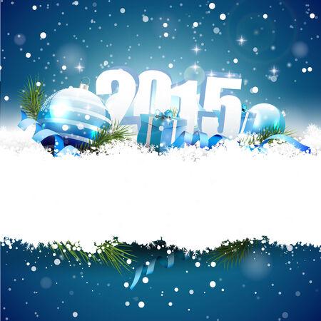 New Year 2015 greeting card