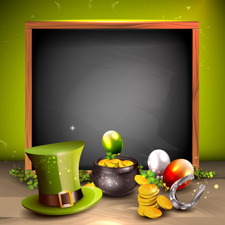 St. Patrick's Day achtergrond met plaats voor uw tekst