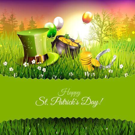 irish landscape: St. Patricks Day greeting card
