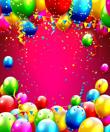 streamer: Colorful birthday background with place for your text