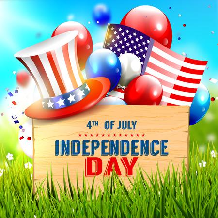 Independence day celebration - vector poster Illustration