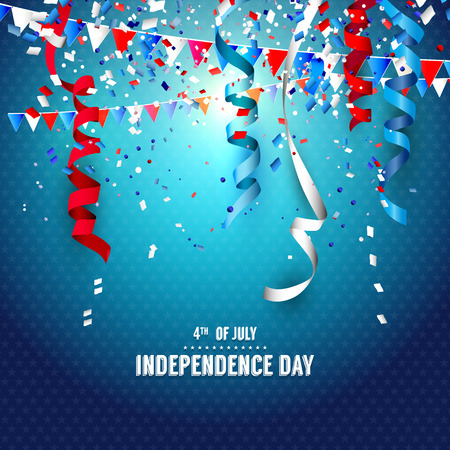 7月4日 - 獨立日慶祝活動背景 向量圖像