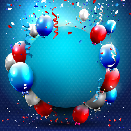 celebration party: 4th of July - Independence day celebration background with party balloons and place for your text