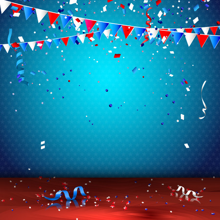 4th of July - Independence day celebration background Stock Illustratie