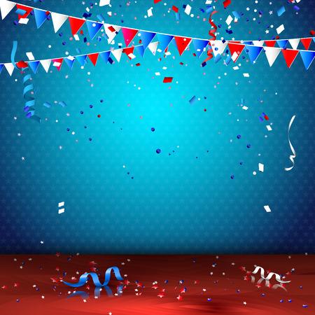 慶典: 7月4日 - 獨立日慶祝活動背景 向量圖像