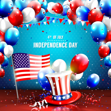 july: 4th of July - Independence day celebration background Illustration