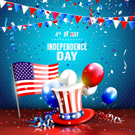 4th of July - Independence day celebration background Ilustração