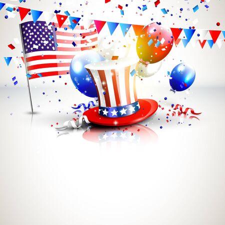 independencia: 4 de julio - Día de la Independencia Celebración de fondo con lugar para el texto