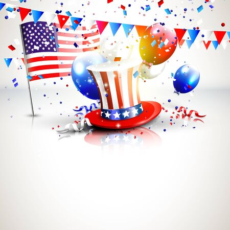 independence: 4th of July - Independence Day Celebration background with place for your text Illustration
