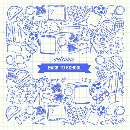 Школа: Вернуться в школу рисованной фон