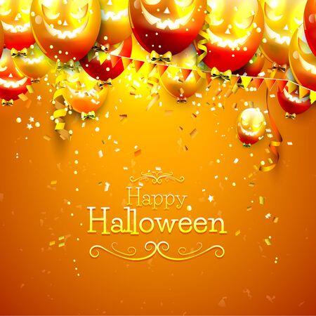 globo: Fondo de Halloween con globos