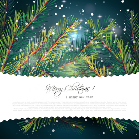Event: Christmas greeting card with branches and place for your text