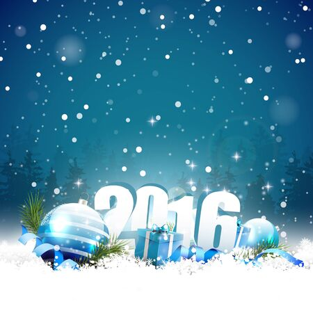 sylvester: Happy New Year 2016 - greeting card
