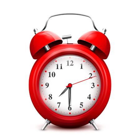 alarmclock: Red alarm clock