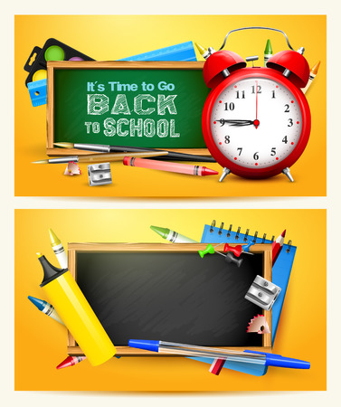 Vector set of two Back to school headers