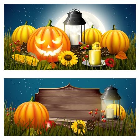 Halloween headers or banners
