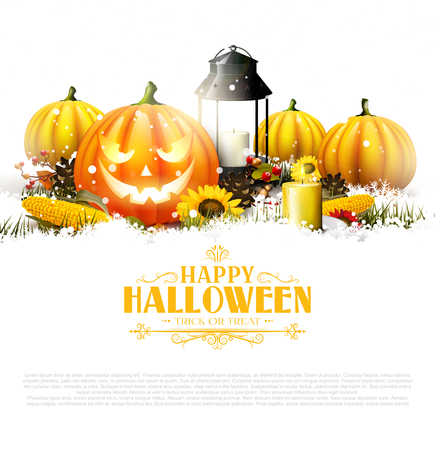 Traditional Halloween decorations banner