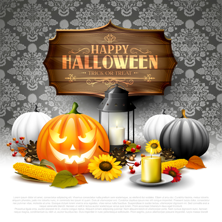 Tarjeta de felicitación de halloween moderna Foto de archivo - 87909337
