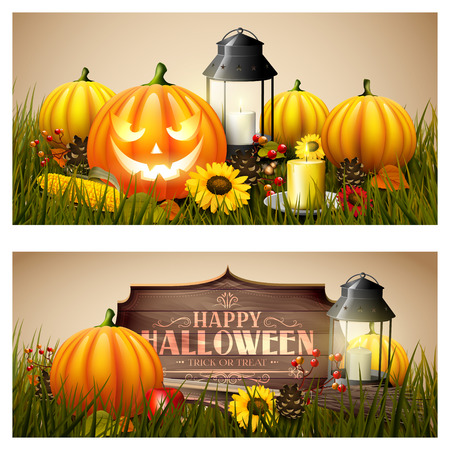Halloween headers or banners