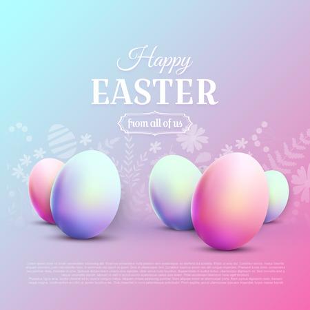 Happy Easter greetin card. Modern 80s trendy style. Illusztráció