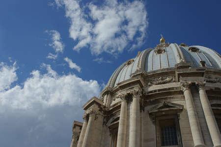 vatican: Cupola of the Vatican. Stock Photo