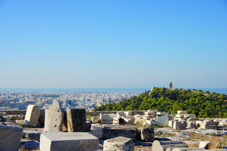 satelite: View over city of Athens