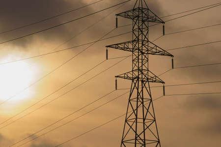 carbondioxide: High-voltage Line Stock Photo