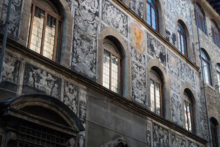 palazzo: Facade of palazzo in Florence, Italy Stock Photo