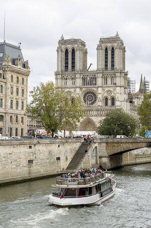Notre-Dame de Paris cathedral Stock Photo
