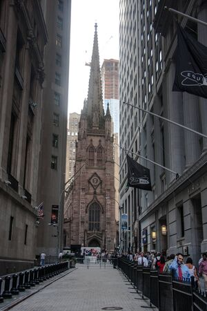 New York, Church of the Holy Trinity between skyscrapers