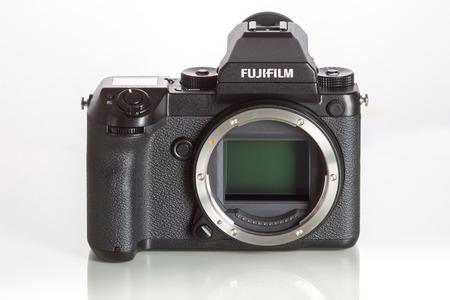 Fujifilm GFX 50S, 43.8 x 32.9mm 51.4MP CMOS sensor and uses new G-mount lenses mount
