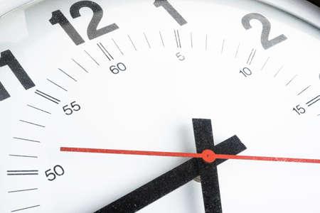 Zbliżenie lub makro strzał złamane, brudne i zakurzone starej tarczy zegara.