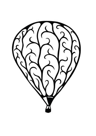 aero: Ornamental hot air balloon Illustration