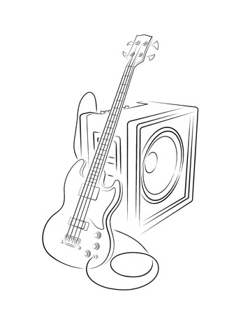 amplifier: Bass and Amplifier illustration