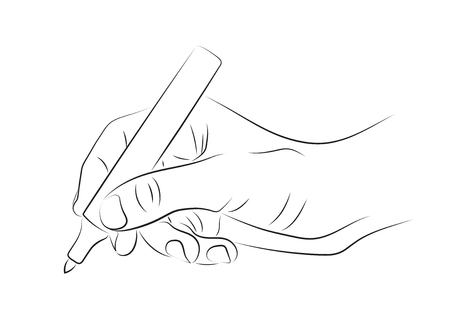 Hand drawing with marker. Line art illustration.