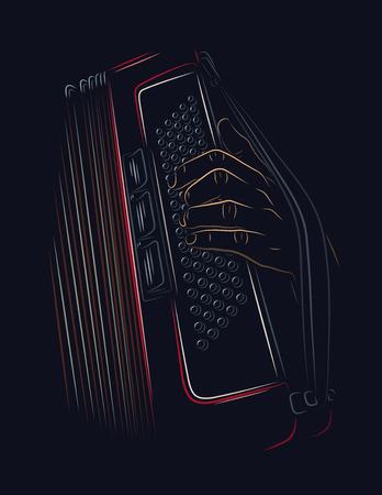 an accordion: acorde�n jugando