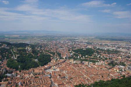 brasov: Old town of Brasov in Romania Stock Photo
