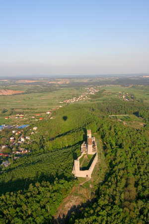 hill of the king: Bird eye view of Checiny castle
