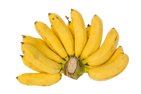 Bunch of bananas, isolated on a white background Stock Photo
